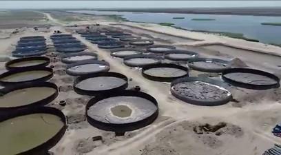 balık üretimi yapılan havuzlar